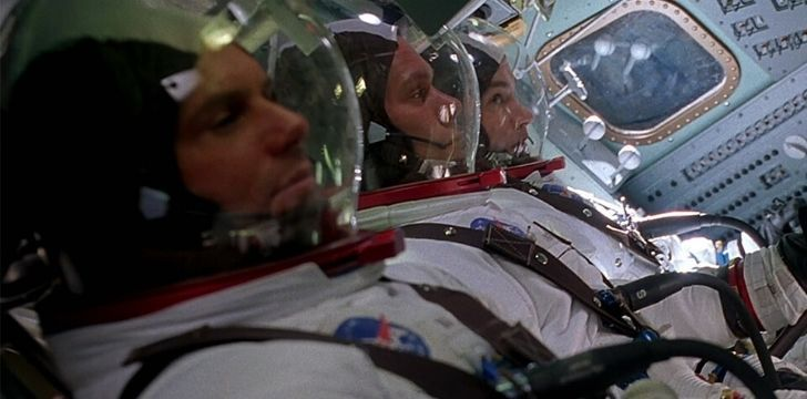 3 astronauts during take off in the movie Apollo 13