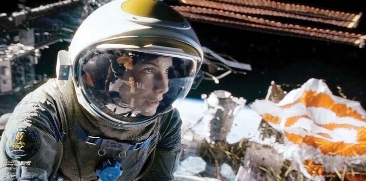 Sandra Bullock in the movie Gravity