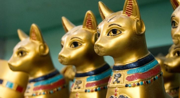Ancient Egyptian Cat statues