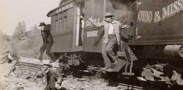 Robbers on a train in Indiana