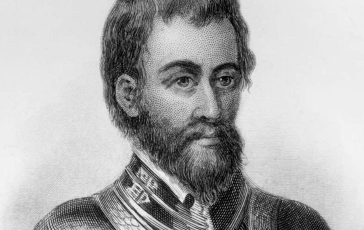 An illustration of explorer Francisco Vazquez de Coronado