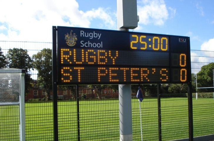 Rugby scoring board