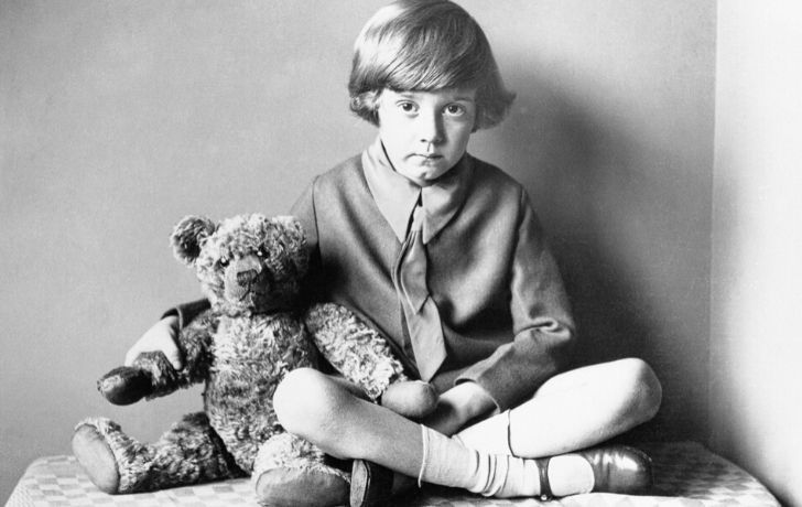 The real Winnie the Pooh bear and Christopher Robin