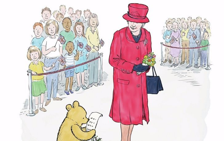 Winnie the Pooh and the Queen