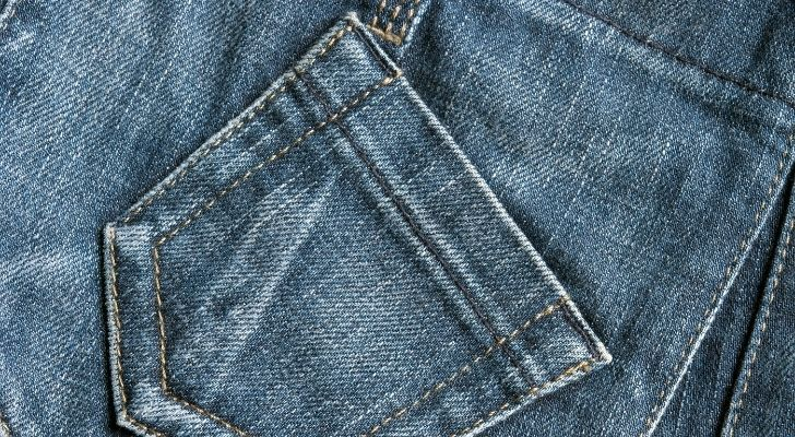 A small jean pocket