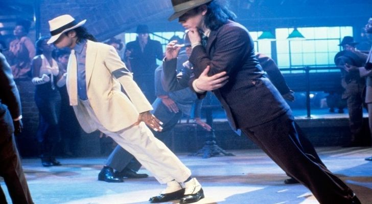 Michael Jackson defying gravity in his special shoes