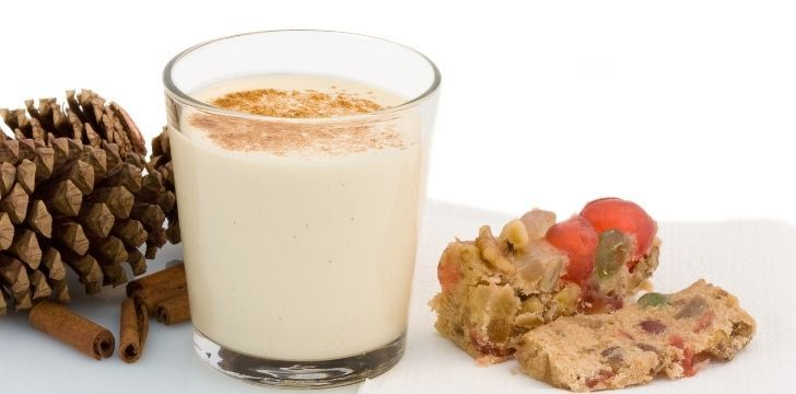 Eggnog in a small glass