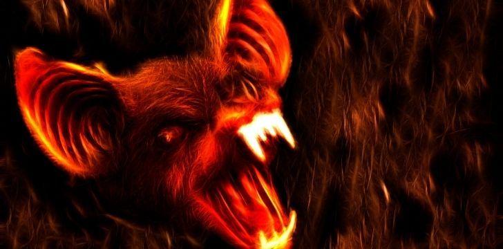 A scary bat with sharp killer teeth
