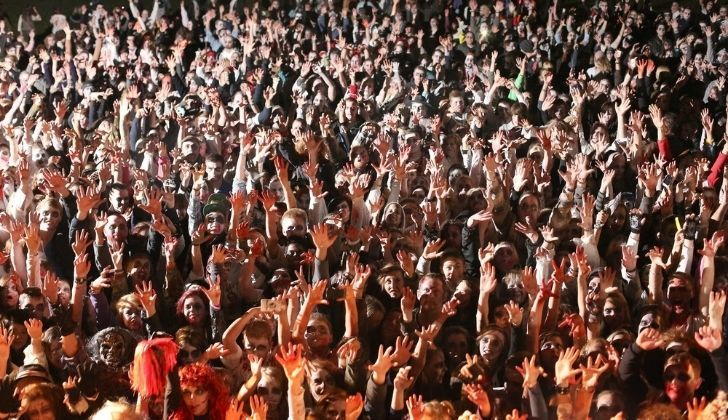 Halloween zombie gathering in Minneapolis