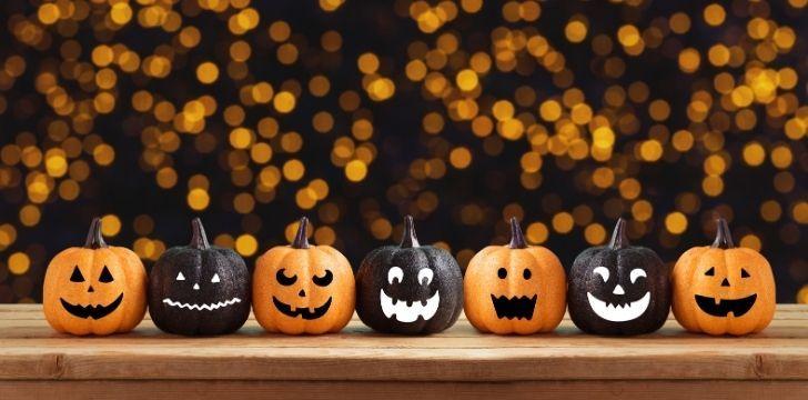 Black and orange pumpkins
