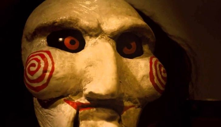 The scary ceramic faced toy clown from the movie SAW