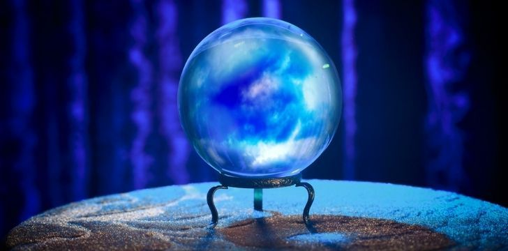 A magic glass ball for scrying
