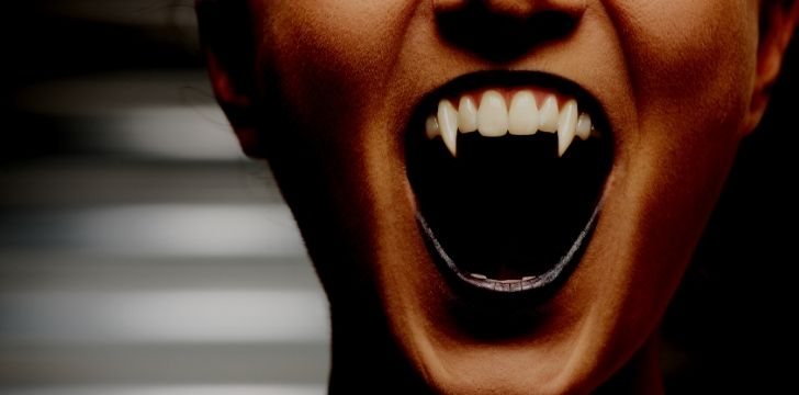 Sharp campire teeth
