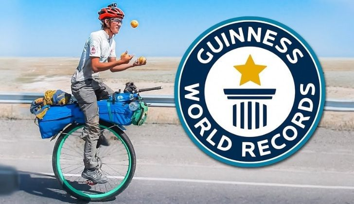 There are many world records performed on a unicycle