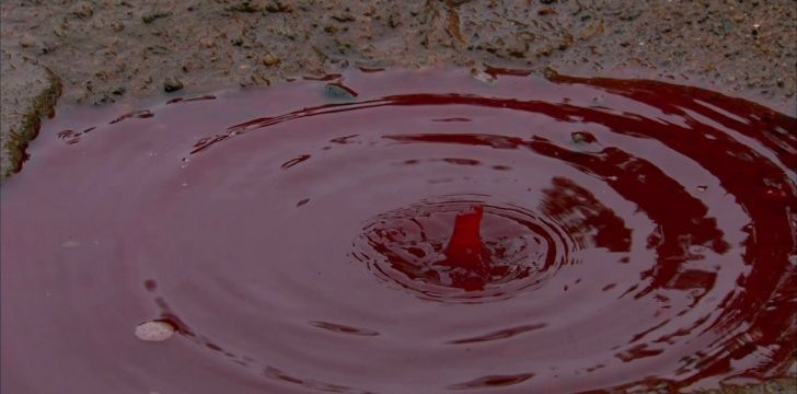 A blood puddle