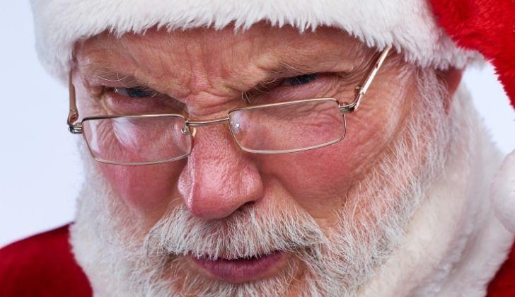 Santa looking angry