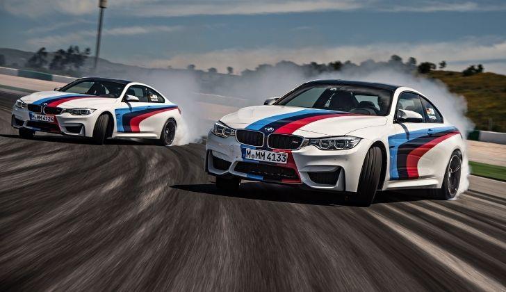 Two BMW cars drifting