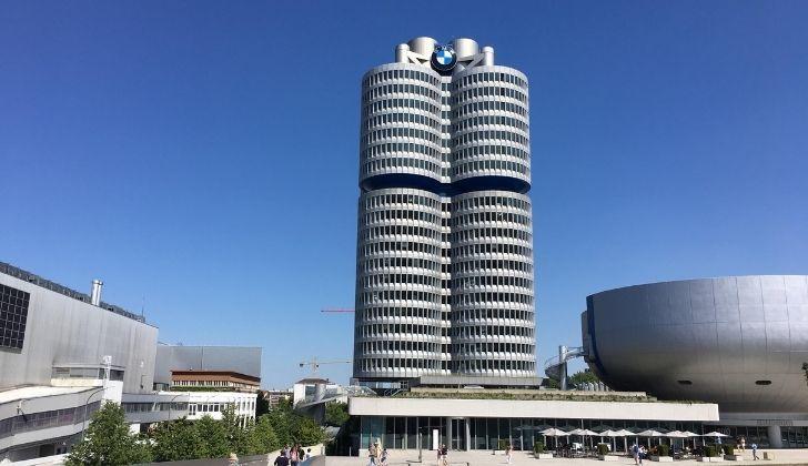 BMW skyscraper headquarters in Munich