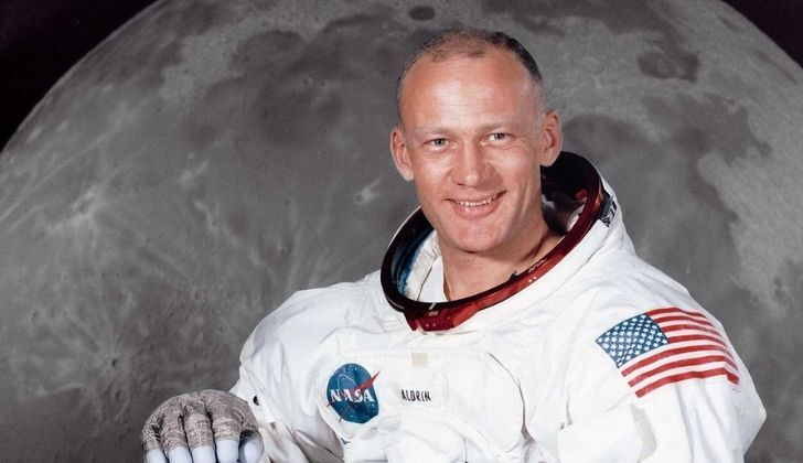 Buzz Aldrin in his space suite