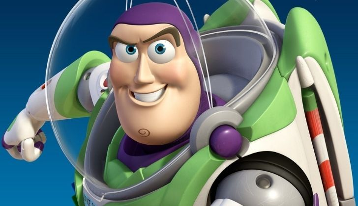 Buzz Lightyear looking fierce into the camera