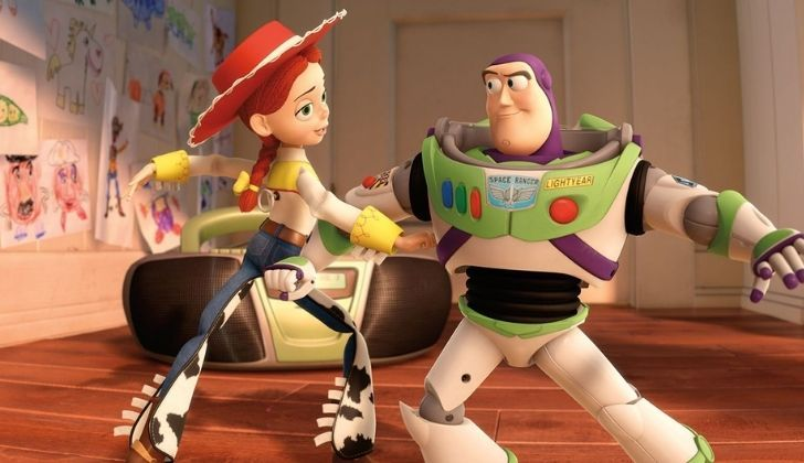 Buzz Lightyear dancing with Jessie