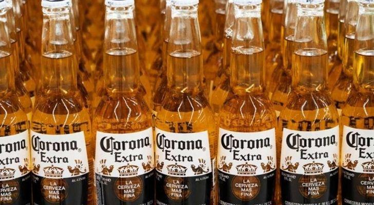 Lots of bottled of Corona beer