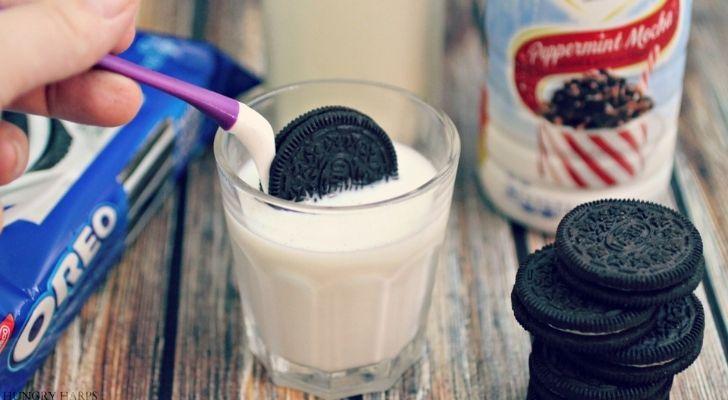A Oreo Dip tool used to dip Oreos into milk