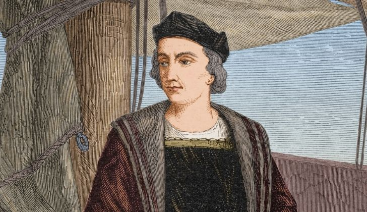 A drawing of Christopher Columbus