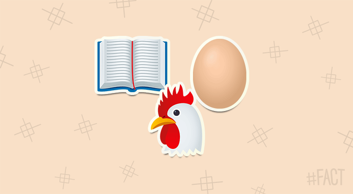 According to Genesis 1:20-22, the chicken came before the egg.