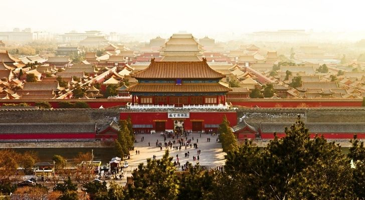Dramatic view of the Imperial Palace in Beijing, China
