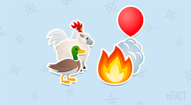 A sheep, a duck and a rooster were the first passengers to take a trip in a hot air balloon.