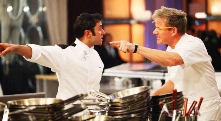Gordon Ramsay looking mighty angry at a chef