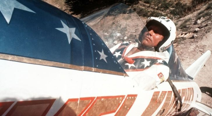Evel Knievel ready to launch across the Snake River