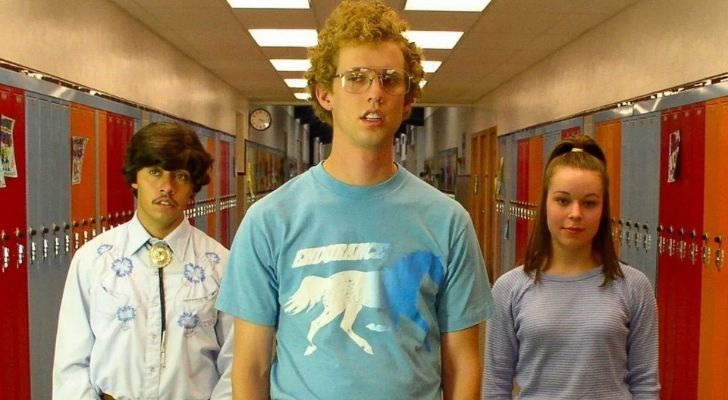The geeky guy out of the movie Napoleon Dynamite