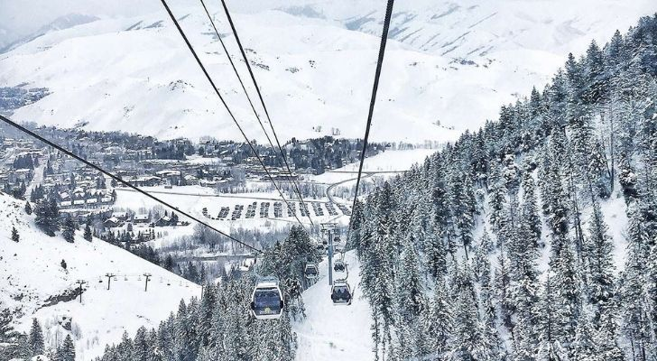 The world's first chairlift at Sun Valley Ski Resort