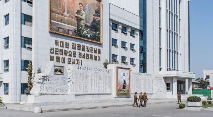 Outside North Koreas biggest art studio