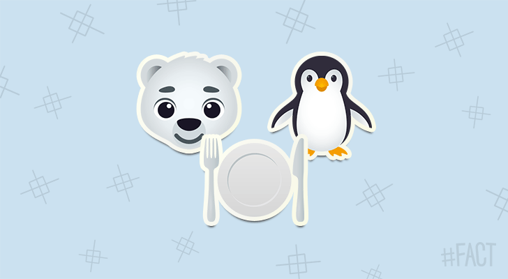 Polar bears could eat as many as 10 penguins in a single sitting if they didn't live at opposite ends of the earth!