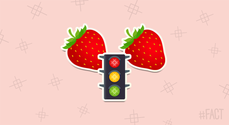 Strawberries can be red, yellow, green or white.