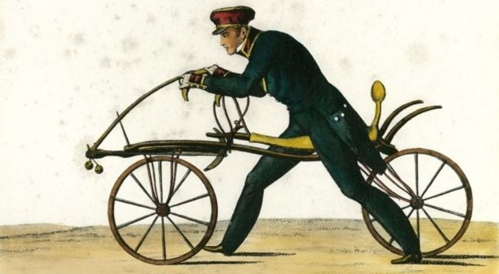 The first bicycle ever invented in 1817