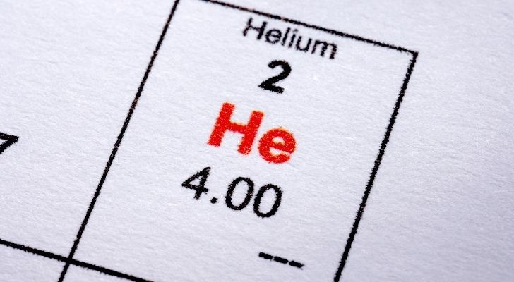 The atomic number of the chemical element helium