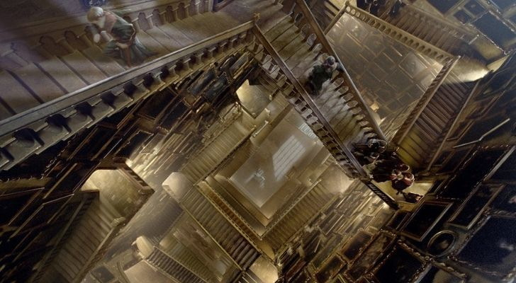 A labyrinth of stairs found at Hogwarts