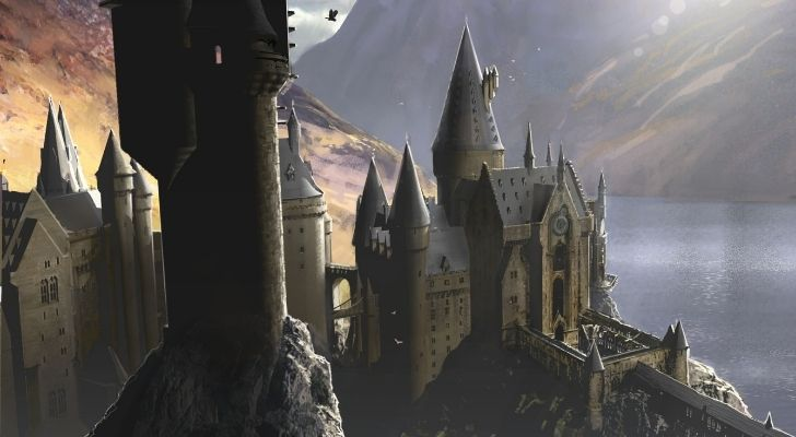 A view of Hogwarts from above