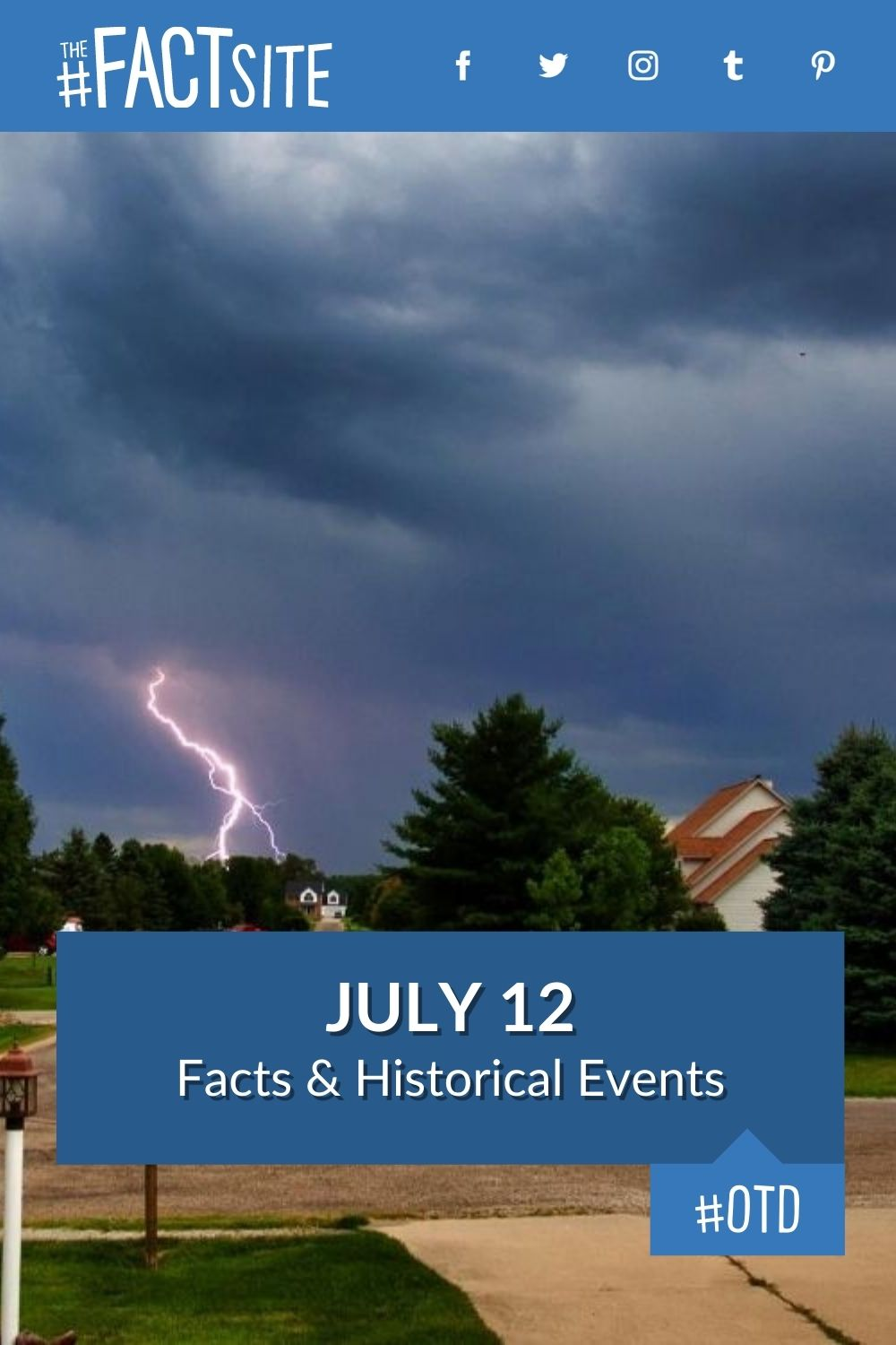 Facts & Historic Events That Happened on July 12