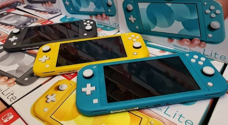 Three Nintendo Switches