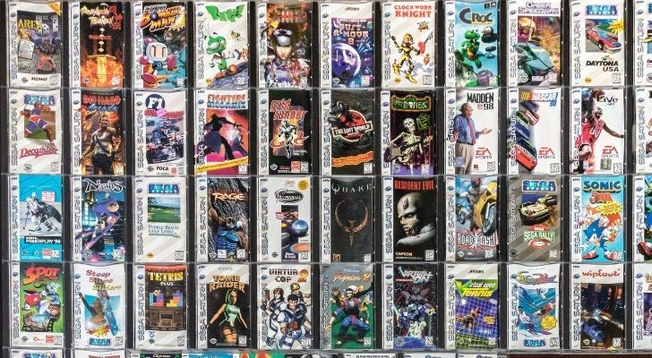 Many games in their cases