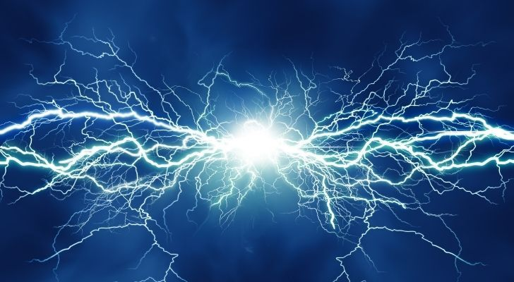 A lightning bolt