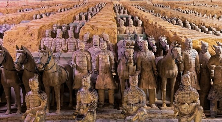 The famous Terracotta Army in China