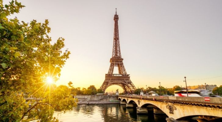 Eiffel Tower on a sunny day