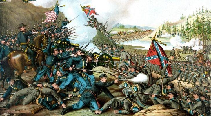 Artist impression of the American Civil War