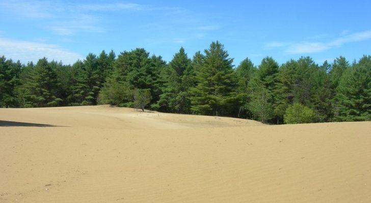 The silt sand desert in Maine
